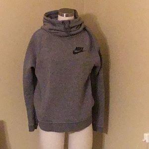 Nike cowl neck hooded sweatshirt